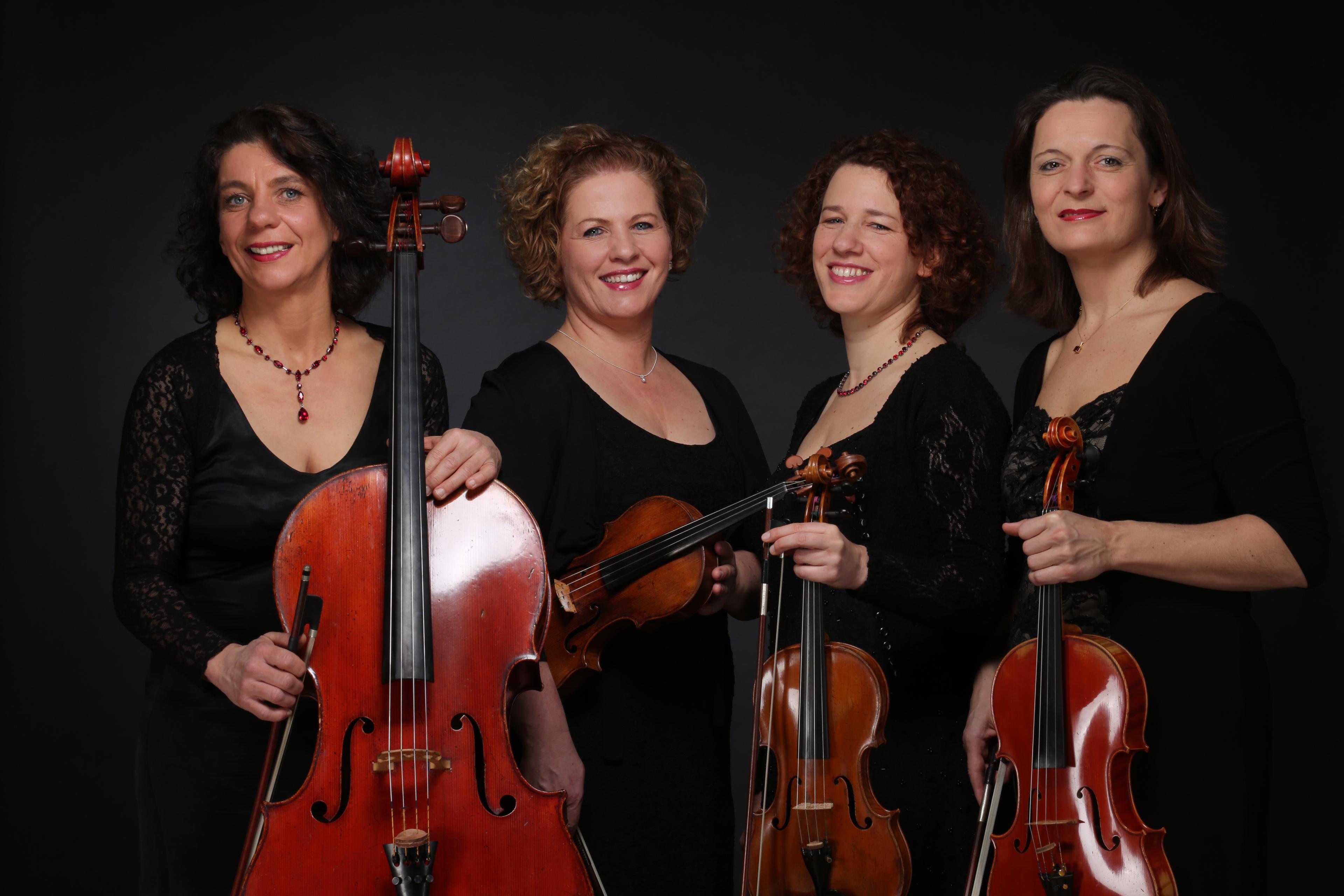 v.l.n.r.: Ulrike Zavelberg (Cello), Irmgard Zavelberg (Violine), Martina Horejsi (Violine), Jana Andraschke (Viola)